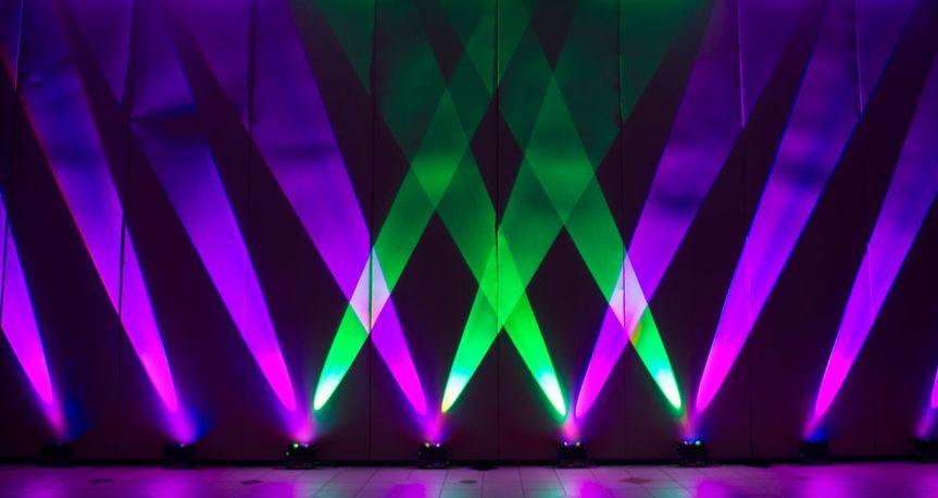 Green and violet lights