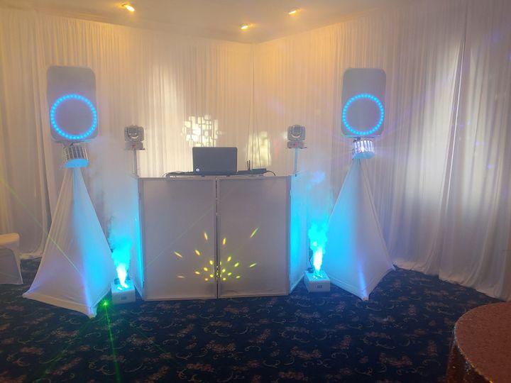 DJ Setup with Led Fog Machine