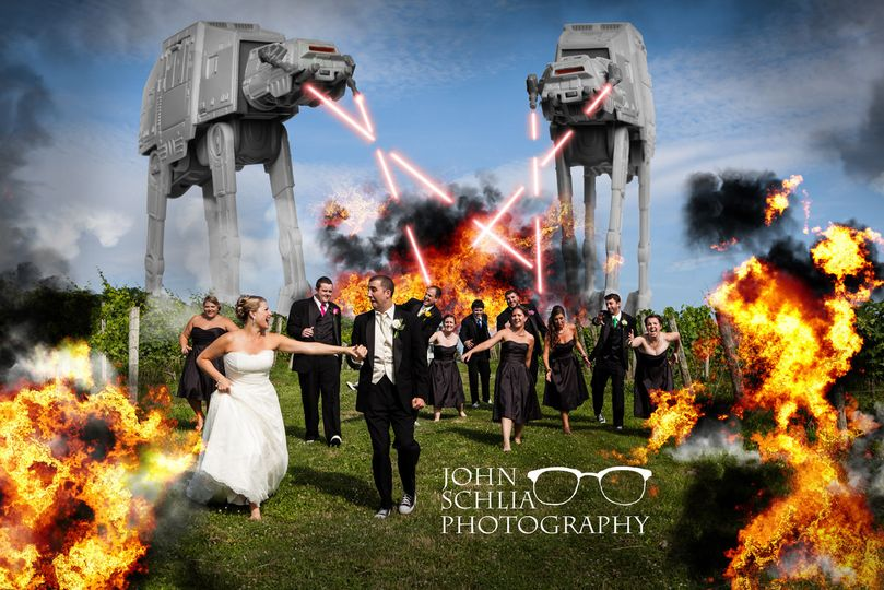 star wars wedding at at