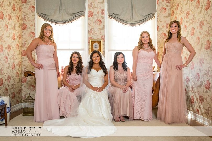 blush bridesmaids dresses 18
