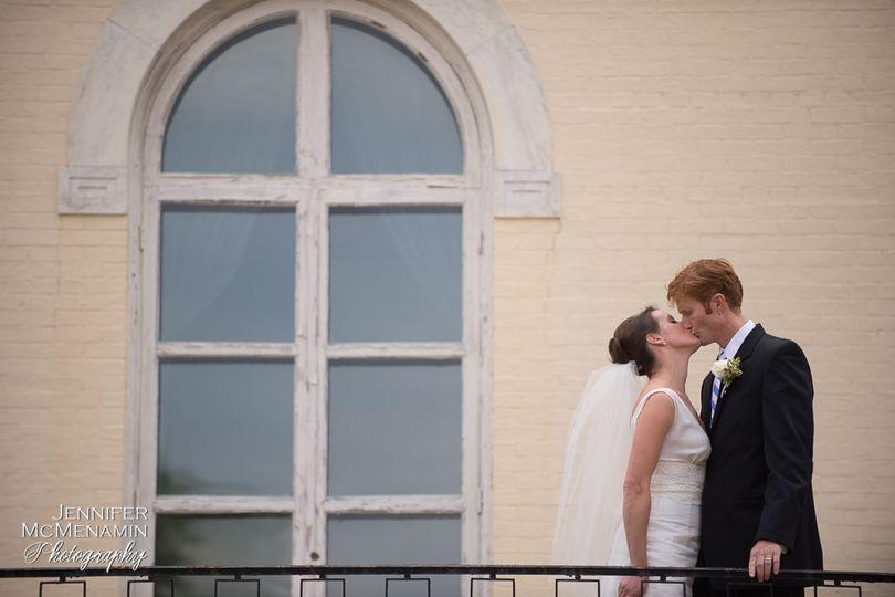 Kiss at the balcony