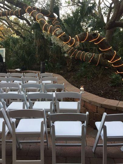 Terrace Ceremony Setup