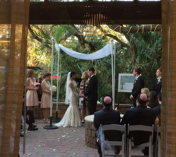 Wedding ceremony on the Terrace