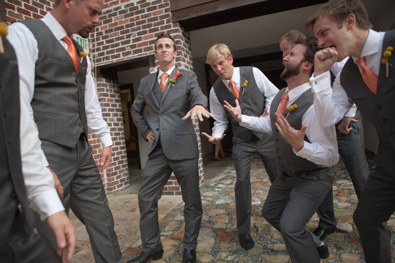 The groom with his groomsmen