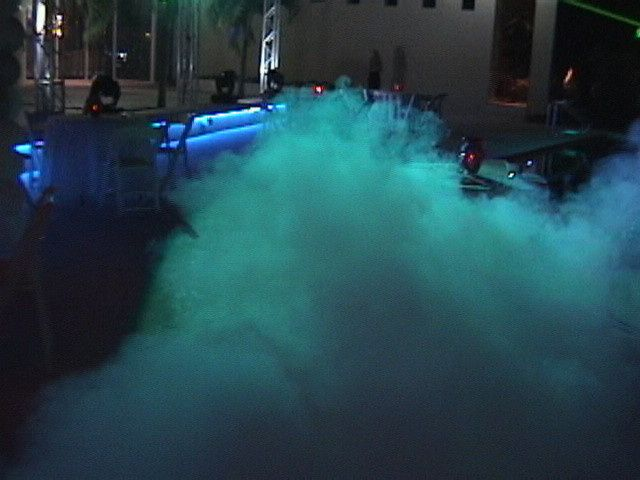Special effect lighting and fog