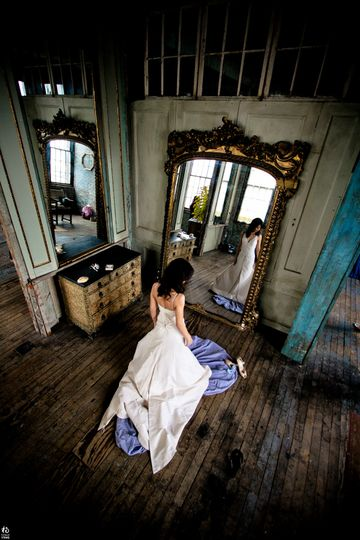 Bridal portrait from a different angle
