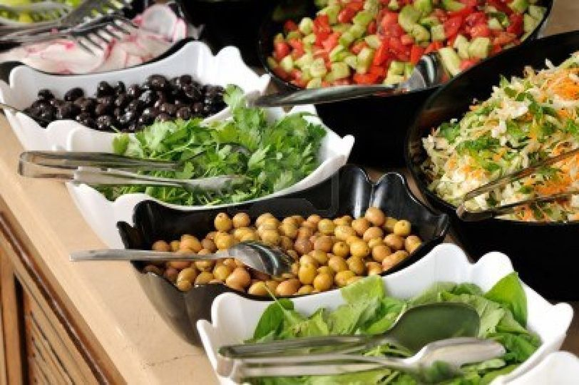 catering food at a wedding part