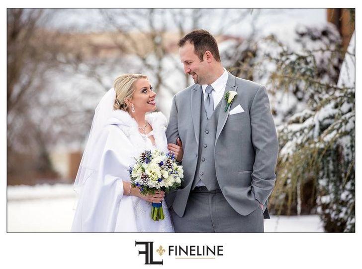 Winter newlyweds
