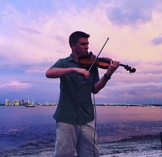 Performing by the sea