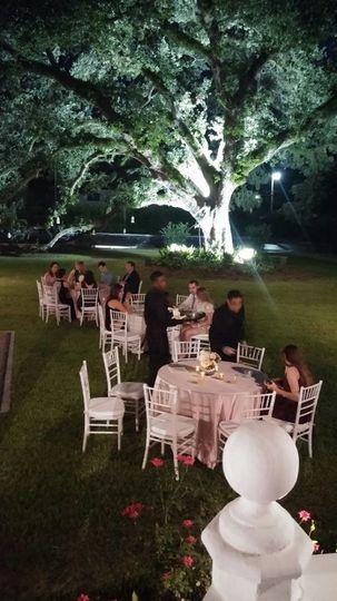 Wedding rcepion area
