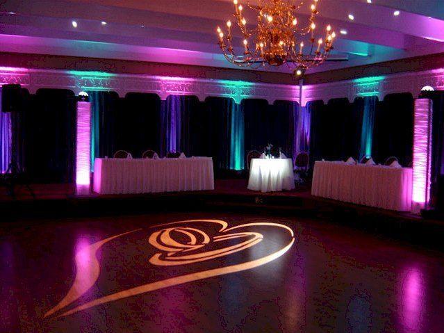 Reception lighting and monogram lights