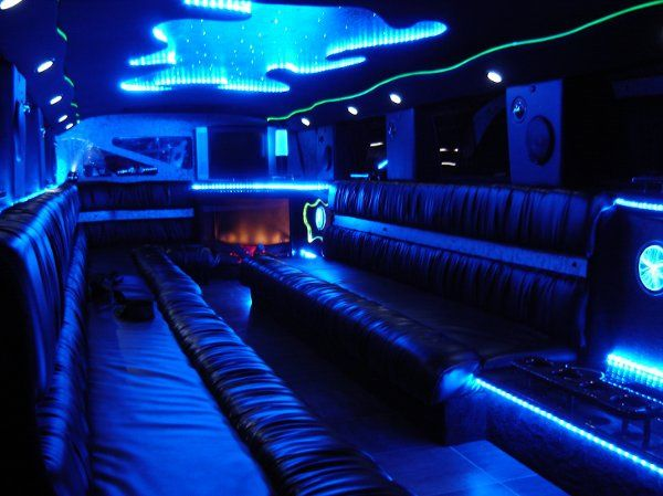 Interior of our Hummer Limousine