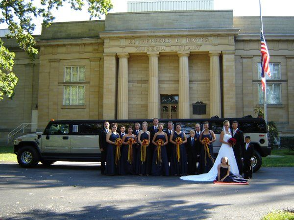 One of the many great Hummer Limo weddings