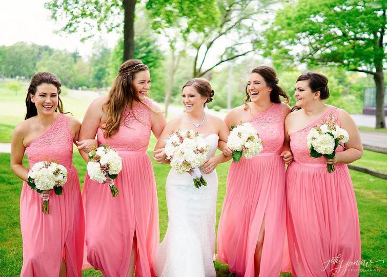 Bridal party makeup services