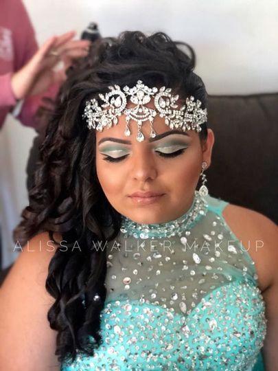 Glamorous look