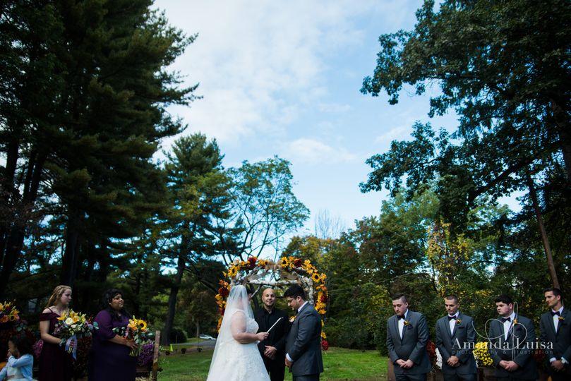 Sunflower wedding ceremony