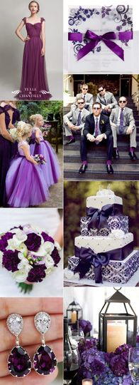 I love plum for Fall weddings!