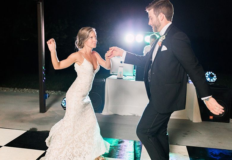 Dancing on the dance floor