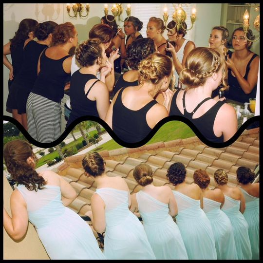Amanda with her bridesmaids!