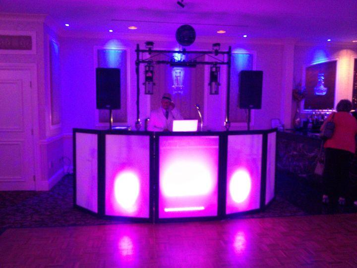 DJ setup and dance floor