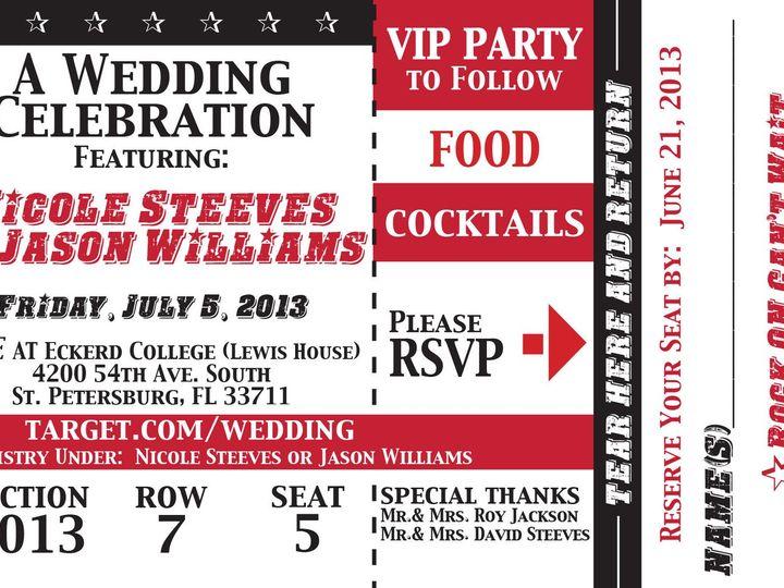 Tmx 1384812762195 Nicolejasonwedding Ticke Saint Petersburg wedding invitation