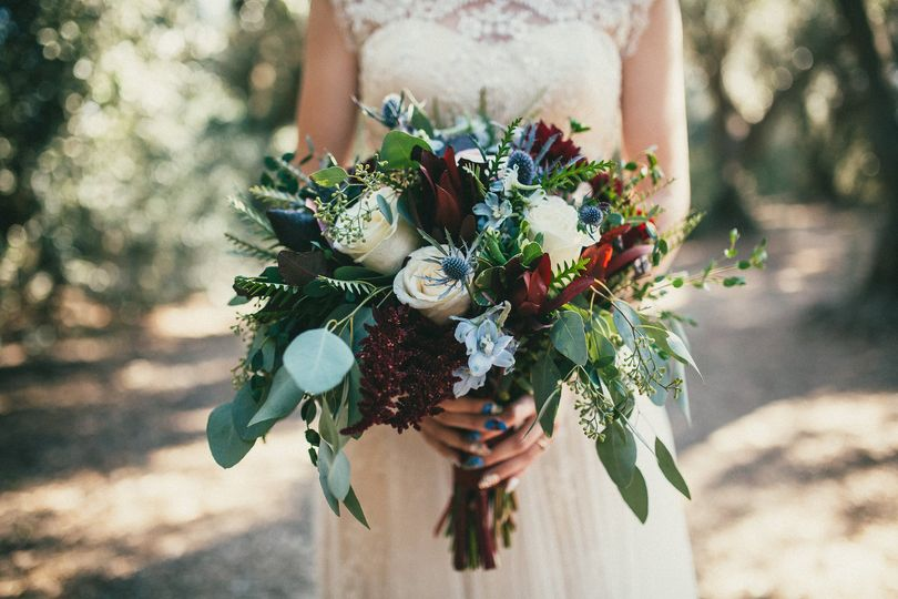 Dark, blue and elegant bouquet