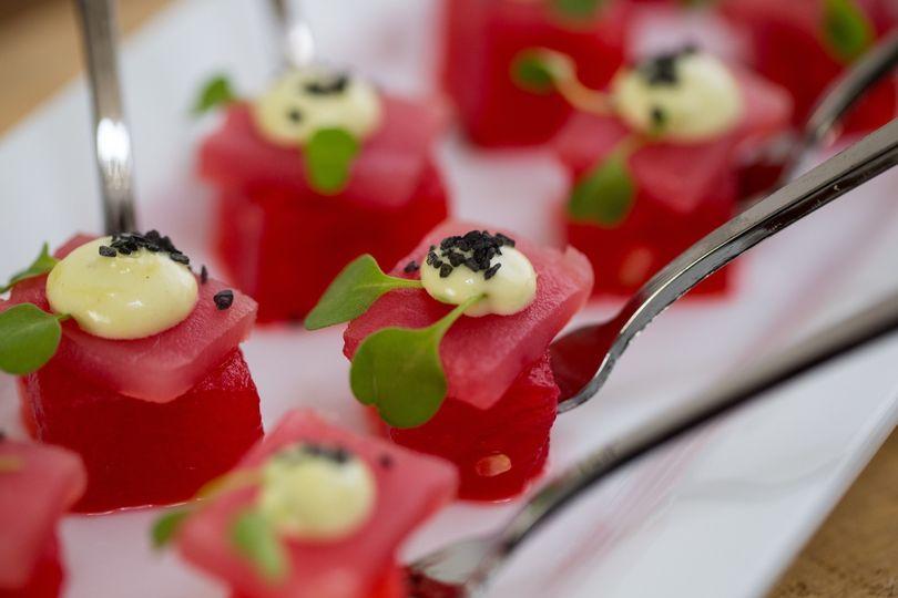 Watermelon and Ahi Tuna