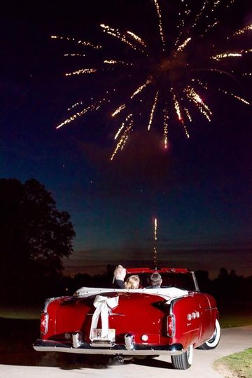 Under the fireworks Photographers Eric &  Jamie captured this amazing shot!