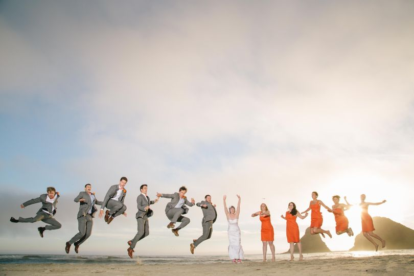 Heceta head lighthouse bed and breakfast wedding bridal party