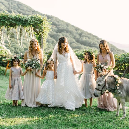 Bridal party by Hayley Paige