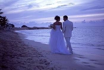 couple in punta cana on beach
