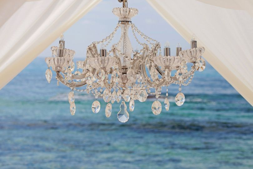 pure glamour ceremony chandelier
