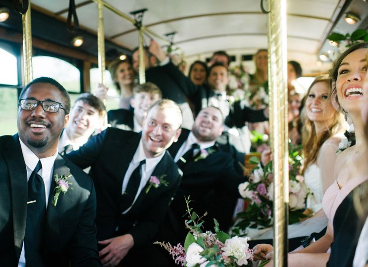 Modern Trolley Wedding Party