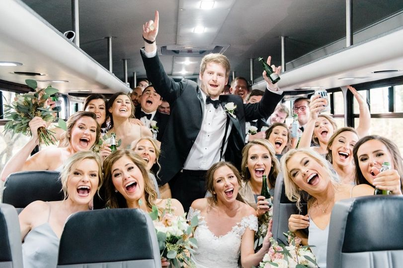 Wedding Party 24 Passenger Bus