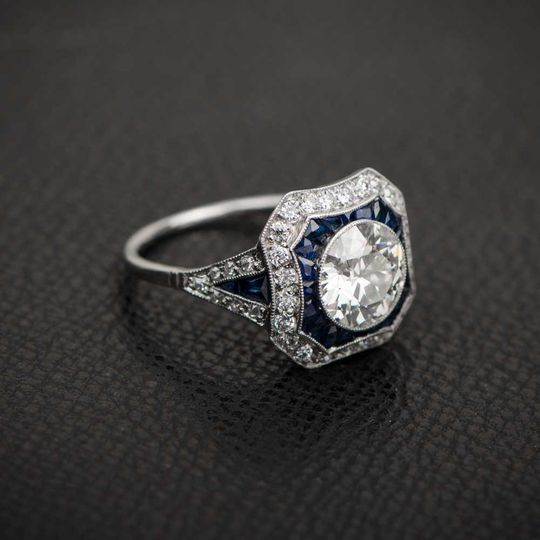 diamond and sapphire engagement ring 11020 artisti