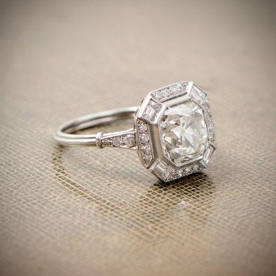 old european cut diamond engagement ring art