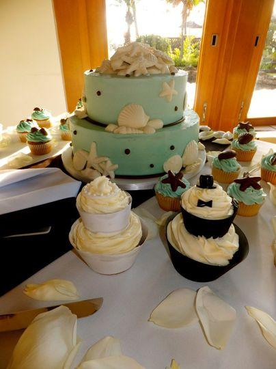 A trio of cakes