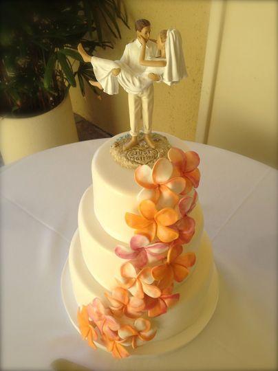 floral cascading cake