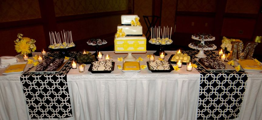 The yellow buffet sweets