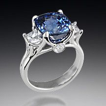 Three stone branch cocktail ring