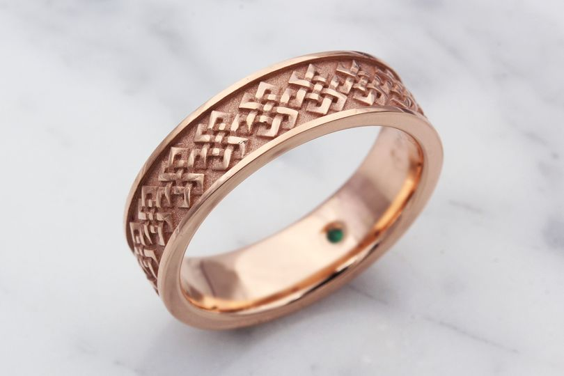 Tibetan Knot Wedding Band