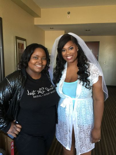 Bride and stylist