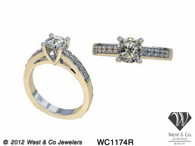 Tmx 1398540421465 14kt Diamond Cathedral Engagement Rin Webster wedding jewelry