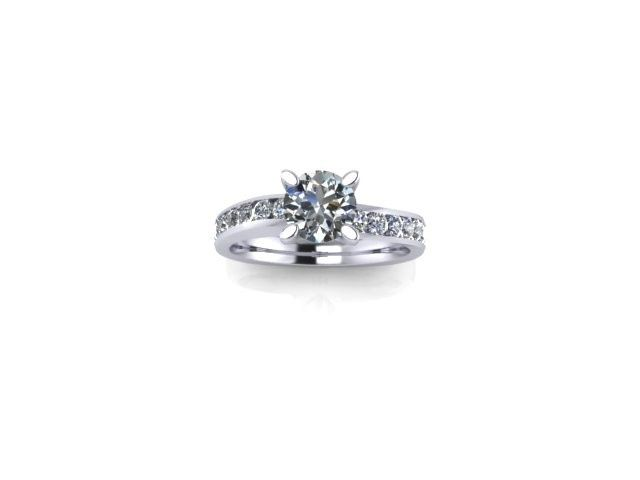 Tmx 1398540427375 14kt Round Engagement Rin Webster wedding jewelry