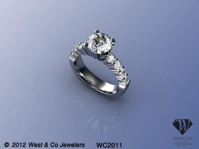 Tmx 1398540429578 14kt Shared Prong Engagement Rin Webster wedding jewelry