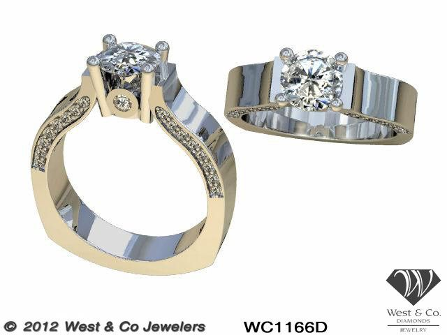 Tmx 1398540444457 14kt Wide Ring With Profile Diamond Webster wedding jewelry