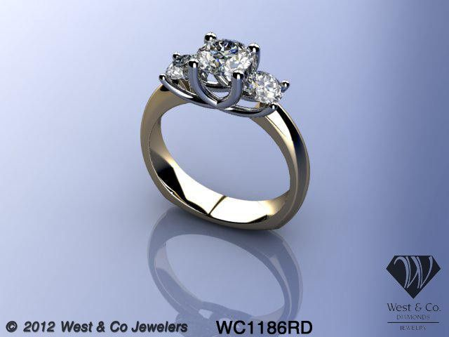 Tmx 1398540448956 14ktt Three Diamond Trellis Rin Webster wedding jewelry