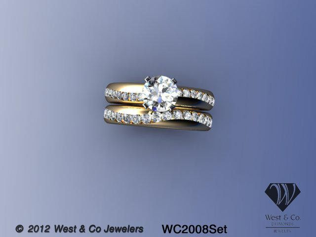 Tmx 1398540453528 Custom 14k Curved Channel Se Webster wedding jewelry