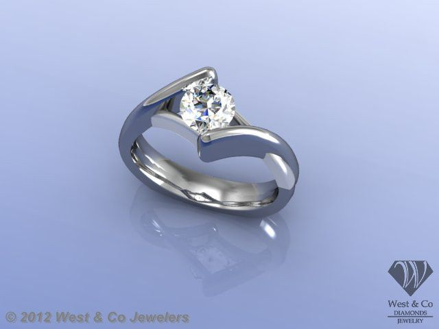 Tmx 1398540464767 Custom 14kt Bypass Style Engagement Rin Webster wedding jewelry