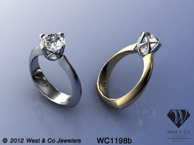 Tmx 1398540475959 Custom 14kt Engagement Ring With Design Baske Webster wedding jewelry